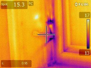 Green Footsteps Ltd thermal image air ingress at window installation